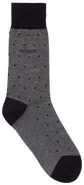 BOSS Lightweight socks in mercerised cotton with dot pattern
