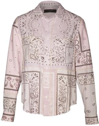 Amiri Reconstructed Bandana Print Flannel Shirt Lavendar