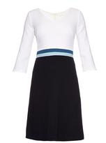 Goat Beau colour-block crepe dress