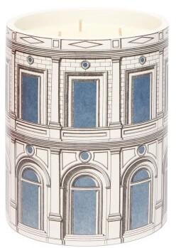 Fornasetti Palazzo Celeste Otto-scented Triple-wick Candle - Blue White