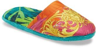 Versace Jungle Satin Slippers