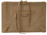 Balenciaga Leather Zip Clutch