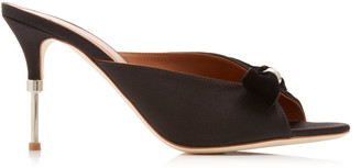 Malone Souliers Paige Satin and Velvet Mules