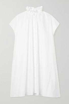 MM6 MAISON MARGIELA Oversized Gathered Cotton-poplin Dress - White