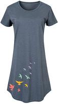Instant Message Women's Women's Tee Shirt Dresses HEATHER - Heather Blue Rainbow Birds Short-Sleeve Dress - Women & Plus