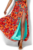 New York & Co. 7th Avenue Design Studio - Chiffon Overlay Maxi Skirt - Floral