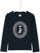 Juicy Couture frilled detail embellished sweatshirt