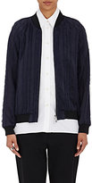 3.1 Phillip Lim Women's Fringed Bomber Jacket-NAVY
