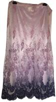 Roberto Cavalli Purple Cotton Skirt for Women