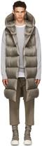 Rick Owens Grey Down Liner Vest