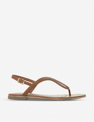 Dune Longley braided-strap faux-leather sandals