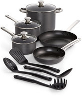 Tools of the Trade Stainless Steel trimmed Hard-Anodized 12-Piece Nonstick Cookware Set