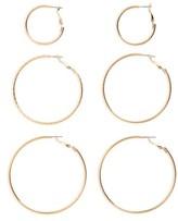 BP Women's 3-Pack Hoop Earrings