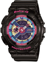 Baby-G Women's Analog-Digital Black Resin Strap Watch 46x43x16mm BA112-1A