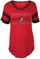 5th & Ocean Women's Portland Trail Blazers Hang Time Glitter T-Shirt