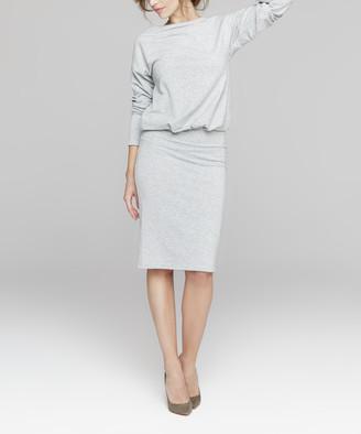 Peperuna Women's Casual Dresses GREY - Gray Blouson Dress - Women