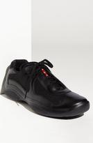 Prada 'America's Cup' Mesh & Leather Sneaker (Men)