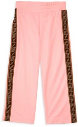Fendi Little Girl's & Girl's Snap Track Pants