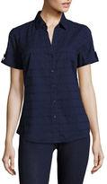 Karen Scott Eyelet Shirt