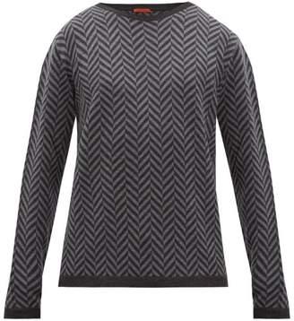 Barena Venezia - Ato Spinone Herringbone Jacquard Wool Sweater - Mens - Grey Multi
