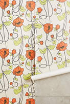 Anthropologie Draping Poppies Wallpaper
