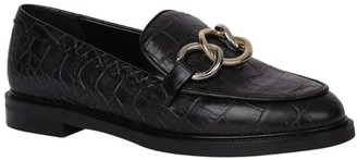 Claudie Pierlot Croc-Embossed Leather Loafers
