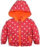Pink Platinum Baby Girls Polka Dot Active Hooded Jacket Spring Coat