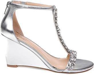 Badgley Mischka Meryl Embellished Wedge Heels