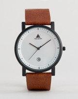 Asos Sleek Watch With Date Window In Tan