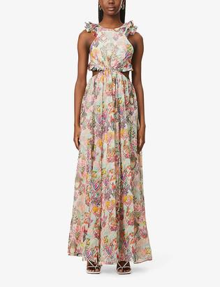Zimmermann Love printed cotton, silk and linen-blend maxi dress