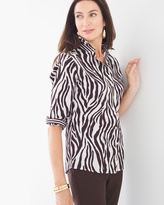 Chico's Gabrielle Animal Tribes Shirt