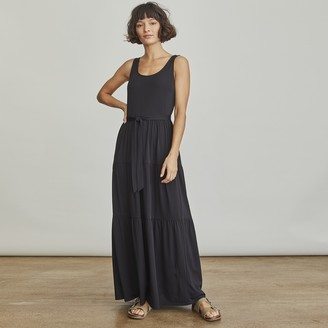 Elizabeth and James Women's Self-Tie Tiered Maxi Tank Dress