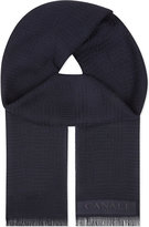 Canali Multi Textured Wool Scarf