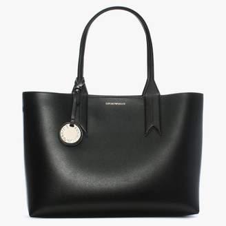 Emporio Armani Frida Black Textured Shopper Bag