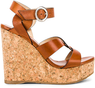 Jimmy Choo Aleili Wedge Heel in Cuoio | FWRD