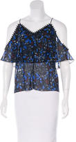 Yigal Azrouel Printed Cold Shoulder Top w/ Tags