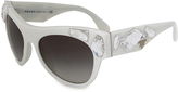 Prada White & Gray Gradient Voice Butterfly Sunglasses