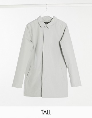 French Connection Tall lined mac jacket in grey