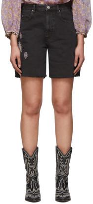 Etoile Isabel Marant Black Denim Cinyab Shorts
