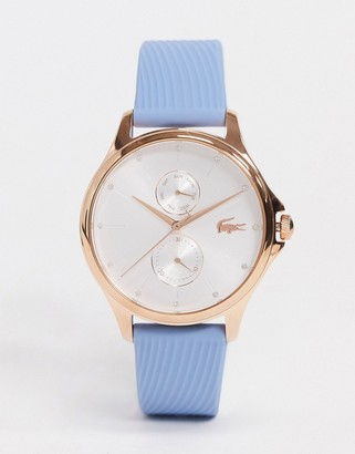 Lacoste silicone strap watch in blue