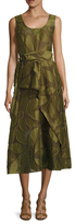 Tracy Reese Belted Midi A-line Dress