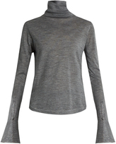 Chloé Wool, silk and cashmere-blend roll-neck sweater