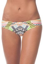 Rip Curl Women's Tribal Myth Printed Luxe Hipster Bikini Bottom with Strappy Cutouts