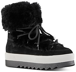Cougar Women's Waterproof Fur Trim Platform Ankle Boots