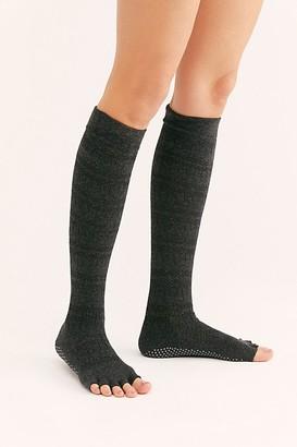 Toesox Merci Pointelle Stripe Knee Socks