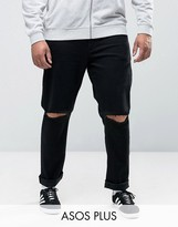 Asos PLUS Skinny Jeans With Knee Rips
