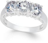 Charter Club Silver-Tone Trinity Crystal Ring, Only at Macy's