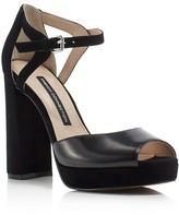 French Connection Dita Ankle Strap High Heel Platform Sandals
