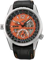Orient Men's CFT00002M Power Reserve Semi-Skeleton Automatic Watch