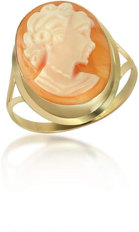 Del Gatto Woman Cornelian Cameo 18K Gold Ring